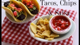 Tacos, Chips & Salsa Clay Food Tutorial