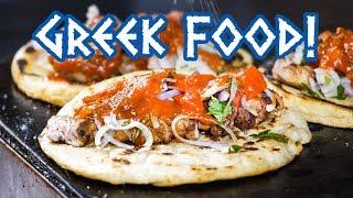 Greek Food - STREET FOOD TOUR and Amazing Souvlaki in Athens, Greece!