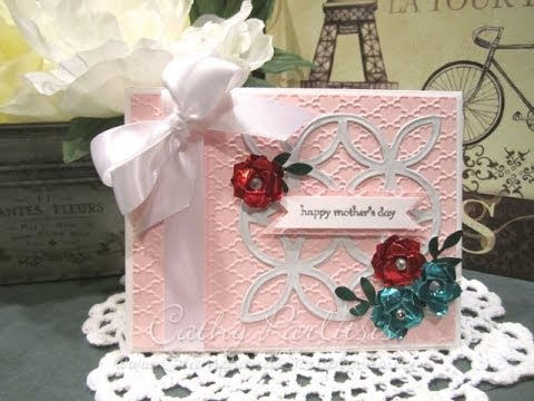 Mother's Day Card from StampsAndScrapbooks Using Craft Metal Sheet Flowers