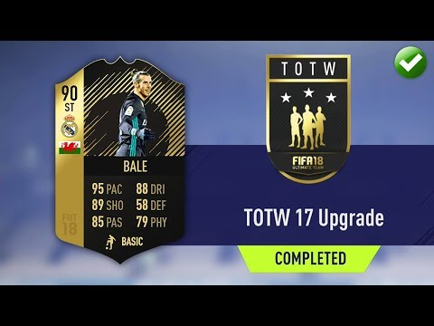 TOTW 17 UPGRADE SBC! (CHEAPEST METHOD & COMPLETED) (FIFA 18 Ultimate Team)