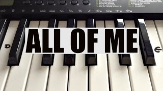 How To Play ALL OF ME- John Legend Intro On Piano Easy