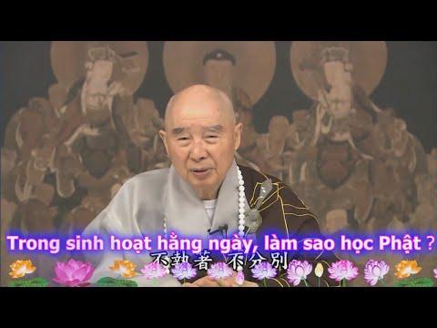 TĐ:659- Trong sinh hoạt hằng ngày, làm sao học Phật ?
