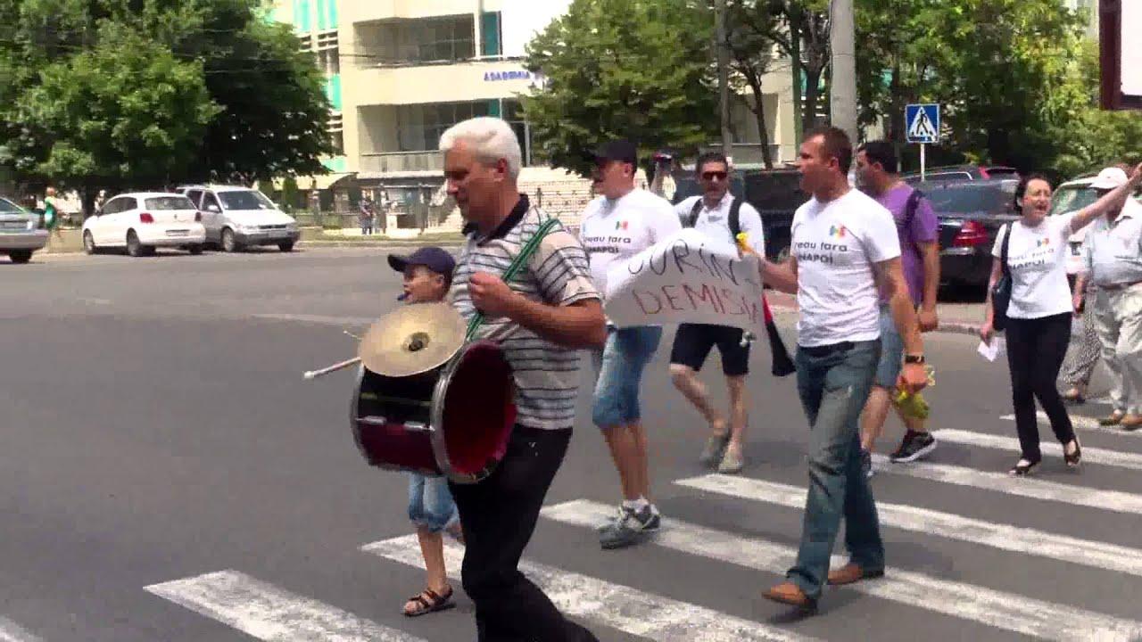 Protest la Banca Națională și la PG