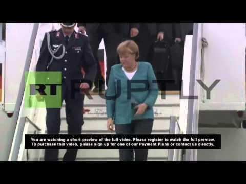 UK: Merkel arrives in Belfast