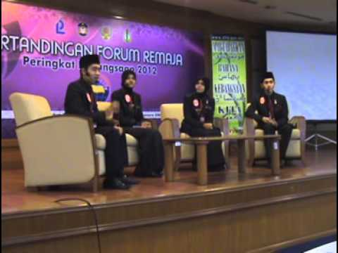 Forum Remaja Peringkat Kebangsaan 2012 - Kedah ( Naib Johan & Ahli Panel Terbaik ).