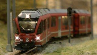 BEMO Modelleisenbahn Schauanlage auf der Modellbahn Ausstellung Köln 2016