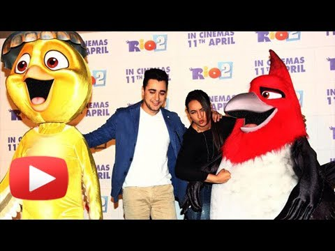 RIO 2 Hindi Premire - Sonakshi Sinha And Imran Khan - Press Conference