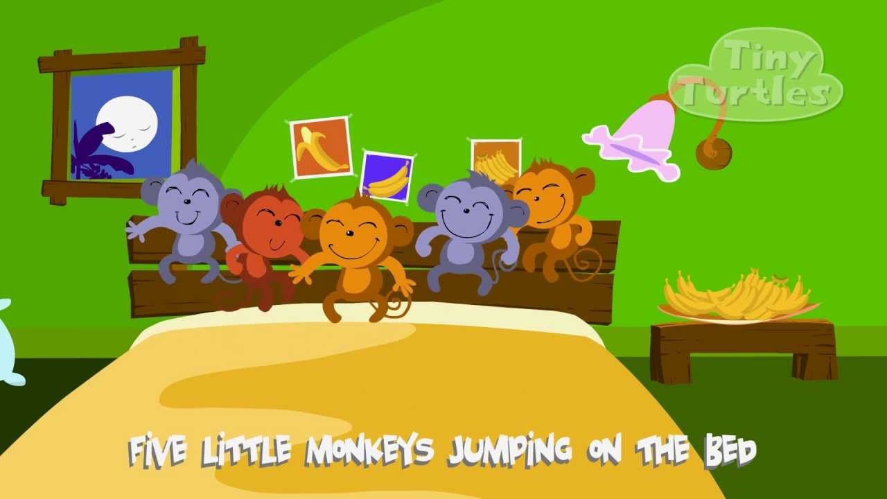Five Little Monkeys From Tiny Turtles YouTube