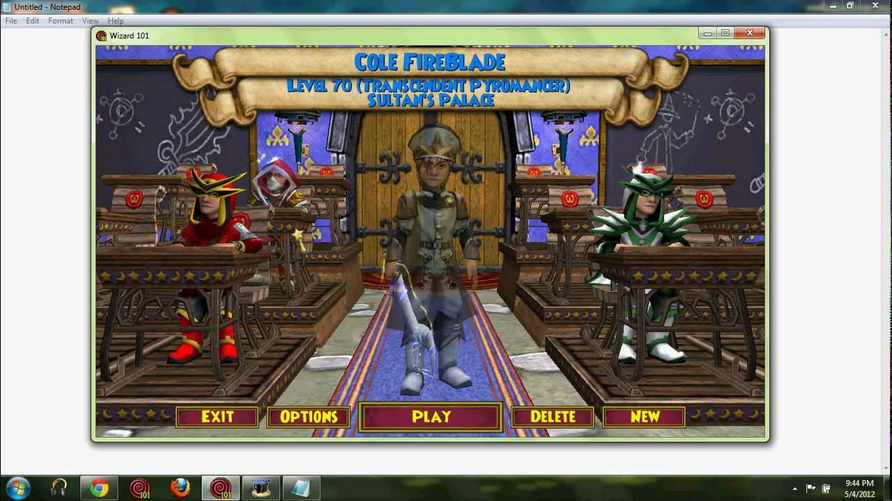 wizard101 sign in account