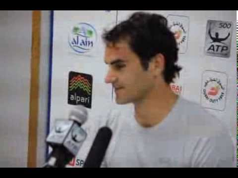 Post-match press conference with Roger Federer, QFs, Dubai Tennis Championships 2014