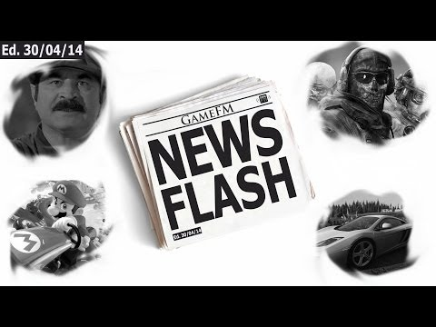 GameFM News Flash - 30/04/2014 - Mario Kart 8, DriveClub, Bob Hoskins e Call of Duty