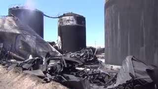 Нафтобаза БРС після пожежі