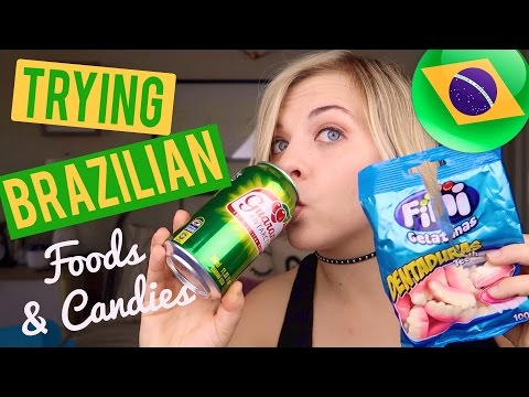 AMERICAN TRYING BRAZILIAN SNACKS AND CANDY! 🇧🇷 // SoCassie
