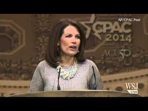 Michele Bachmann Slams Hillary Clinton at CPAC 2014