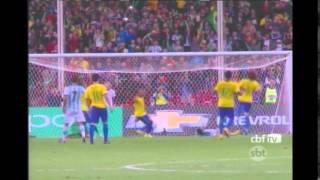 O Brasil venceu o amistoso contra a Argentina por 2 a 0, no último sábado. Os gols foram marcados pelo jogador atleticano Diego Tardelli.