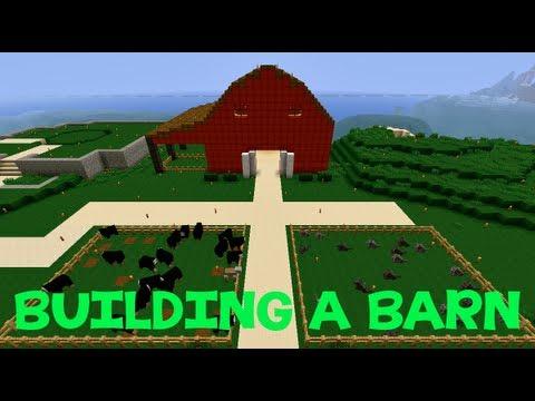 Minecraft: Building A Barn - YouTube