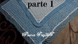 COBIJITA PARA BEBE A GANCHILLO DOBLE CAPA PARTE 1 (BASE