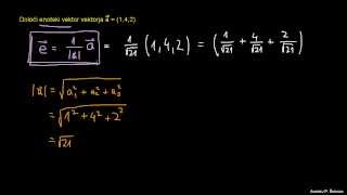 Določanje enotskega vektorja