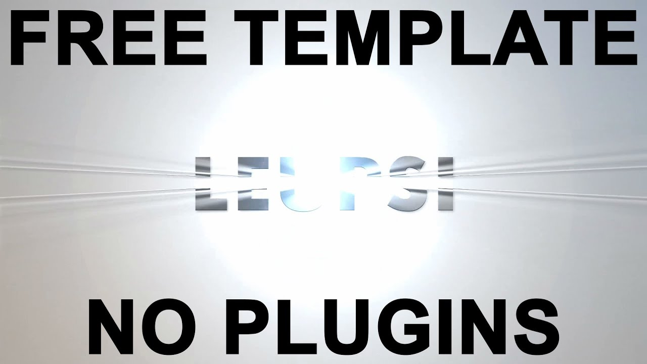 free after effects text templates -