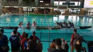 High Stakes Rowboat Tug of War in a Swimming Pool