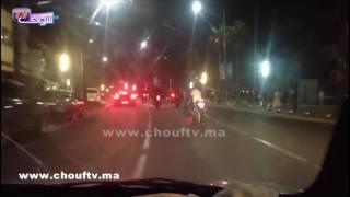 بالفيديو..أصحاب الدراجات الضخمة محيحين فعين الذياب بكازا  