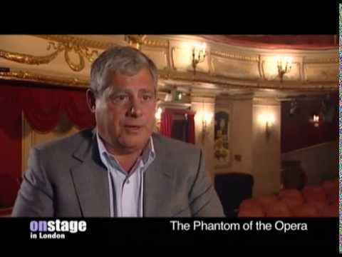 Cameron Mackintosh talks to onstage about Phantom and Les Mis