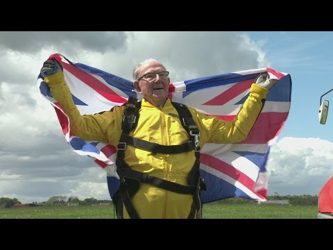 101-year-old D-Day veteran breaks world skydiving record