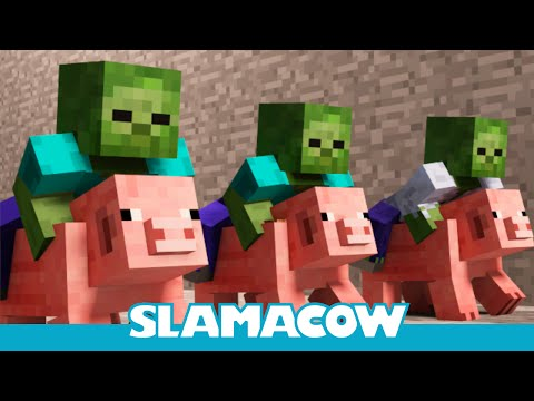 Pig Racing - A Minecraft Animation, Still working on the big projects. Until then, enjoy this pig racing animation :D Follow me on Twitter! https://twitter.com/SlamacowSteven Facebook: http://o...