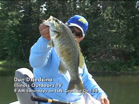 Thumbnail image for 'Don gets a big smallmouth bass while taping an Illinois Outdoors TV Show'