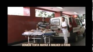 Homem tenta matar esposa a tiros em Taquara�u de Minas