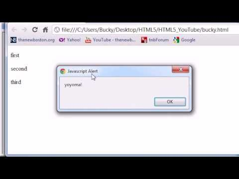 HTML5 Tutorial - 25 - Working with JavaScript in HTML5