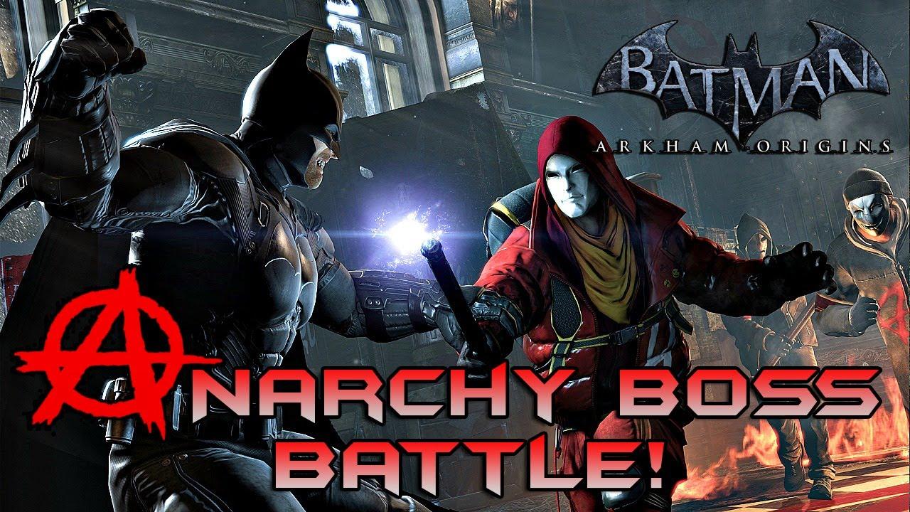 Batman Arkham Origins: Anarchy Boss Battle! - YouTube: www.youtube.com/watch?v=L-JyNG1Shko