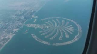 Emirates 777 Flying Over Palm Island Dubai