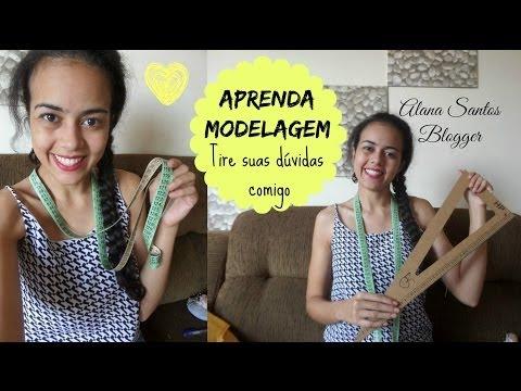 Faça moldes de roupa aprendendo modelagem com Alana Santos Blogger