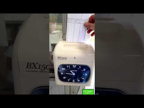 BX1500 Amano marcatempo con timbratura automatica installato provincia Milano
