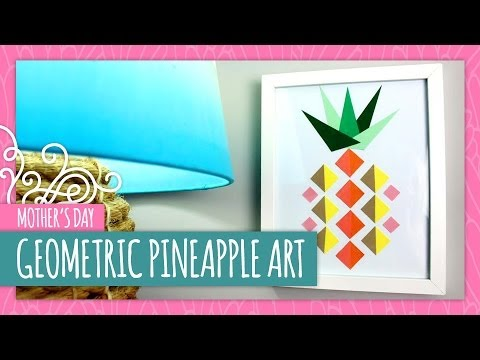Geometric Pineapple Art- HGTV Handmade