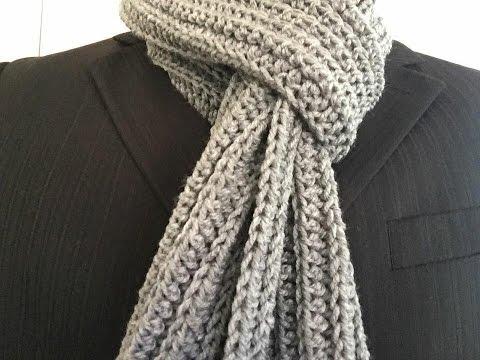 Móc khăn len  How to crochet a scarf for men