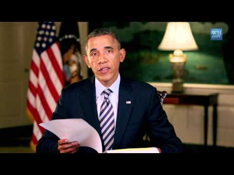 END THIS GOVERNMENT SHUTDOWN. Obama Today on Weekly Address