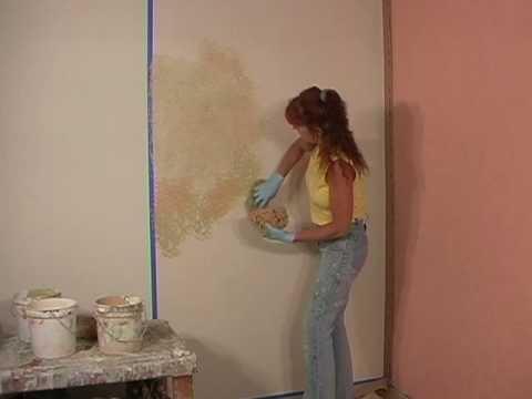Rustic Sponge Painted Wall