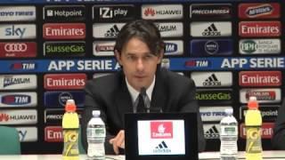 Milan, Inzaghi: 'Non siamo stati quelli dell'ultimo periodo. Cerci non è il salvatore della patria'