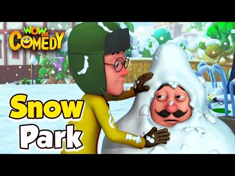 Motu Patlu- EP27A | Snow Park | Funny Videos For Kids | Wow Kidz Comedy
