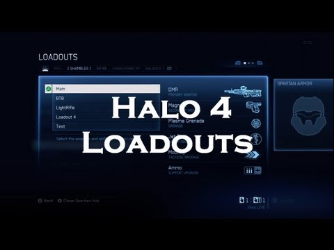 Loadouts Halo 4 Halo 4 my Loadouts Explained