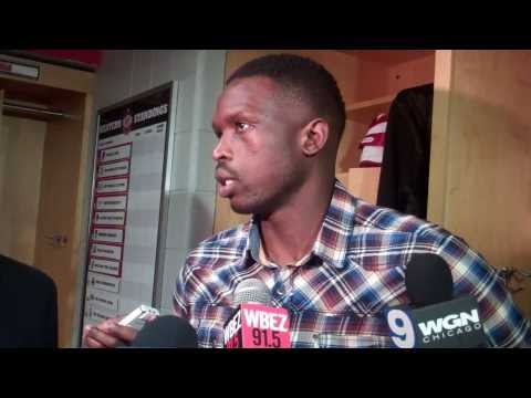 Chicago Bulls forward Luol Deng postgame 10.16.13