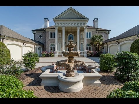 Million Dollar Luxury Golf Course Homes Atlanta 2008 Westbourne Way Country Club Of The