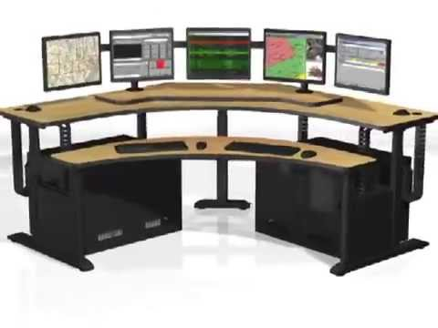 Banana Table, PACS Workstation, Radiology Furniture, Command Center