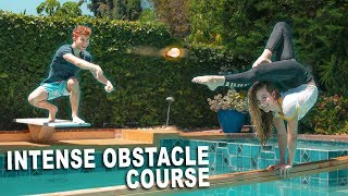 GYMNASTICS OBSTACLE COURSE *OVER THE POOL*