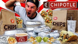 THE SUPERCHARGED CHIPOTLE MENU CHALLENGE (12,000+ CALORIES)