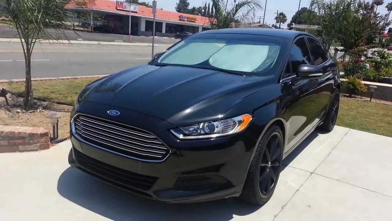 my custom 2013 ford fusion youtube. Black Bedroom Furniture Sets. Home Design Ideas