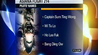 [Asiana Pilots names from KTVU News] Video
