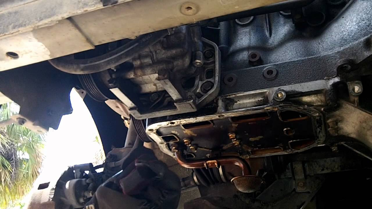 Mazda 626 Oil Pan Gasket Replacement Youtube